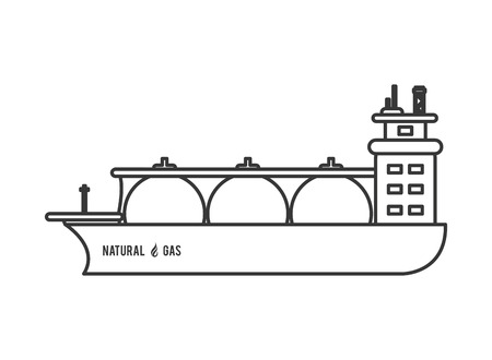 flat design natural gas ship icon vector illustration Vektoros illusztráció