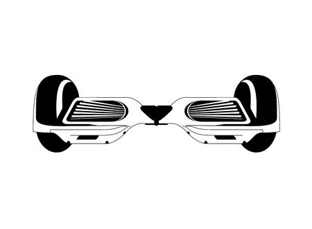 risky innovation: flat design single hoverboard icon vector illustration