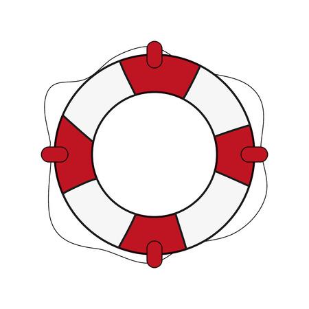 flat design life preserver icon vector illustration Illustration