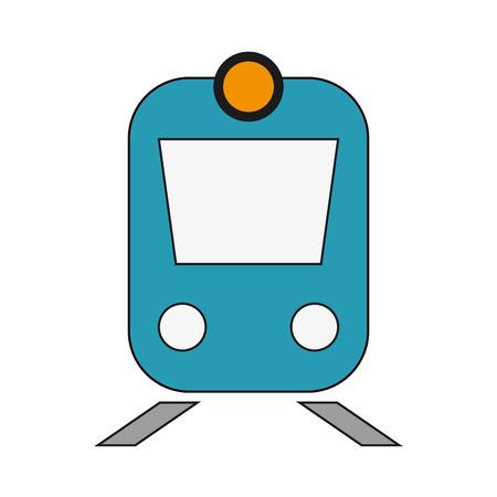 locomotion: flat design train frontview icon vector illustration
