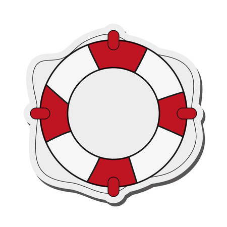 seafaring: flat design life preserver icon vector illustration Illustration