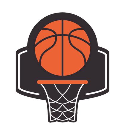 backboard: flat design basketball backboard and net icon vector illustration