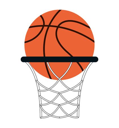 flat design basketball ball icon vector illustration