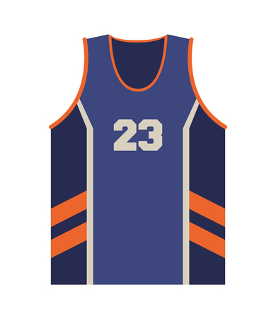 flat design basketball jersey icon vector illustration