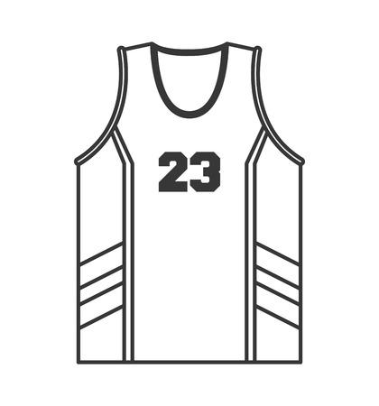 flat design basketball jersey icon vector illustration