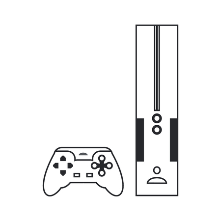 flick: flat design Video game console icon vector illustration