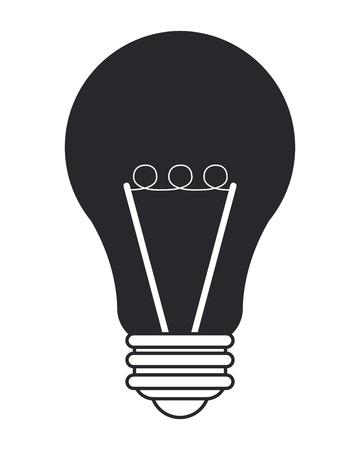 scriibble: flat design regular lightbulb icon vector illustration