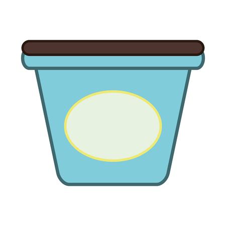 shipped: flat design ice cream carton icon vector illustration