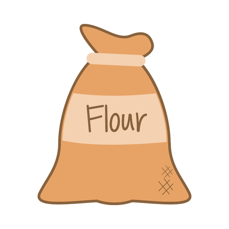 wholemeal: flat design bag of flour icon vector illustration Illustration