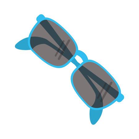 flat design cute sunglasses icon vector illustration