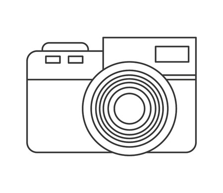 photographic: flat design photographic camera icon vector illustration Illustration