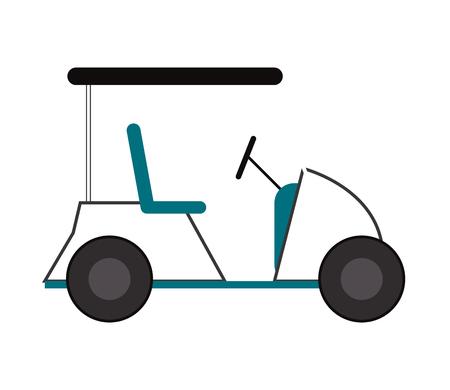 flat design golf cart icon vector illustration