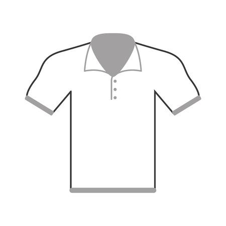dress size: flat design polo shirt icon vector illustration