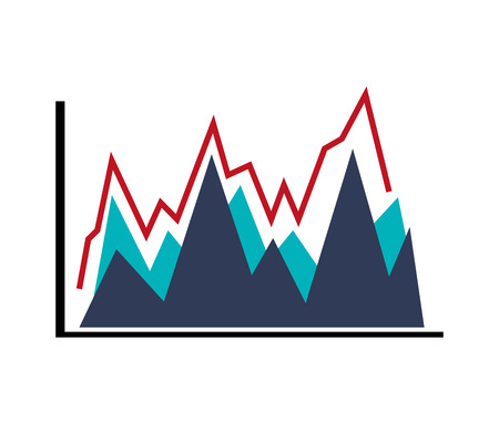 flat design graph chart icon vector illustration Illustration