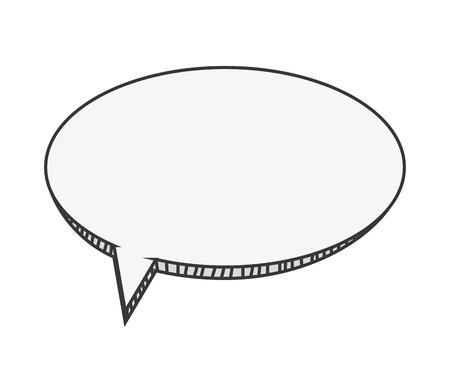 converse: flat design cardboard conversation bubble icon vector illustration Illustration