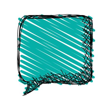 flat design sketch conversation bubble icon vector illustration