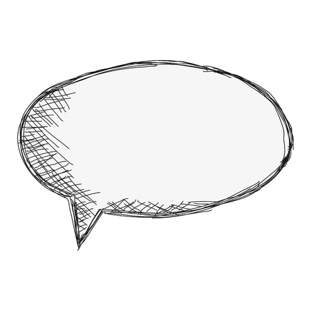 converse: flat design sketch conversation bubble icon vector illustration