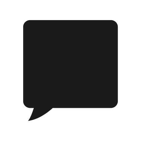 converse: flat design black conversation bubble icon vector illustration Illustration