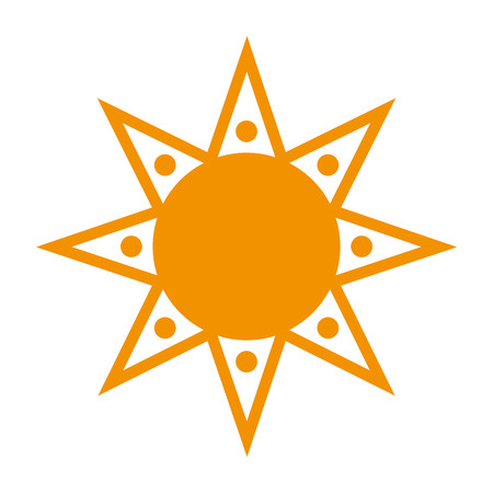 flat design geometrical sun representation icon vector illustration