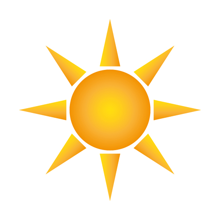 flat design sun representation icon vector illustration