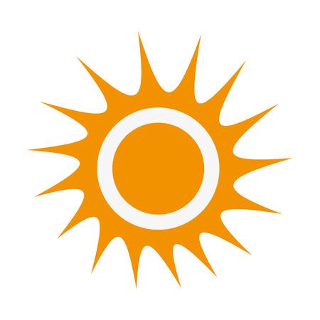 representation: flat design sun representation icon vector illustration
