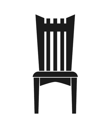 outdoor chair: flat design single outdoor chair icon vector illustration Illustration