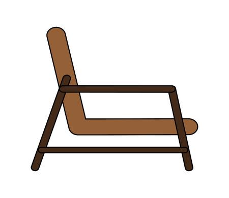 flat design single chair icon vector illustration Illustration