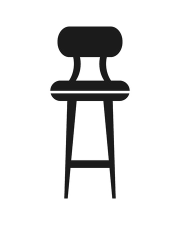 bar stool: flat design bar chair icon vector illustration