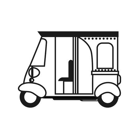 トゥクトゥク人力車 人力車 車 イラスト アイコン Wwwgazoitcom