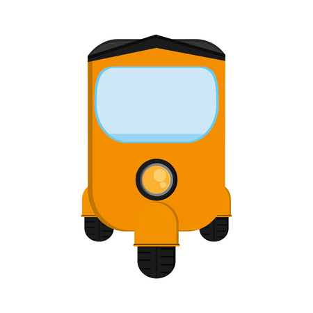 flat design rickshaw or tuk tuk icon vector illustration Illustration