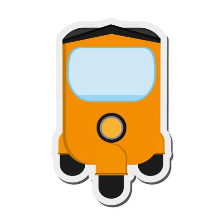 tuk: flat design rickshaw or tuk tuk icon vector illustration Illustration