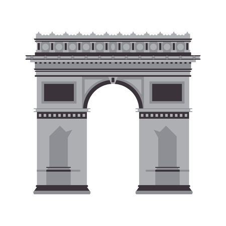 triumphal: flat design arc de triomphe icon vector illustration