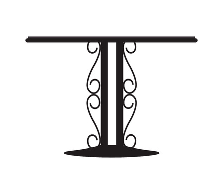 forged: flat design forged metal table icon vector illustration Illustration