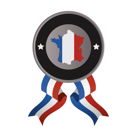 postmark: flat design france emblem icon vector illustration Illustration