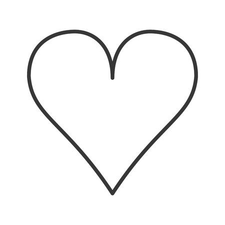 flaches Design Herz Cartoon Symbol Vektor-Illustration Vektorgrafik