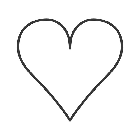 diseño plano Icono de la ilustración vectorial de dibujos animados del corazón