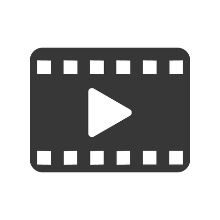 windows media video: flat design play video icon vector illustration