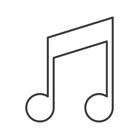 crotchets: flat design music note icon vector illustration