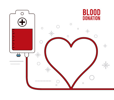 blood bag: blood bag heart donation icon. Colorfull and flat illustration. Vector graphic