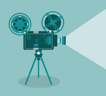 un film vidéo film de la caméra bobine va au cinéma icône. illustration Colorfull. Vecteur graphique