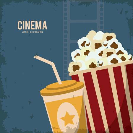 soda pop: soda pop corn movie film going to cinema icon. Colorfull and grunge illustration. Vector graphic