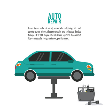 rebuilding: car vehicle toos kit auto rapair service maintenance icon. Colorfull illustration. Vector graphic