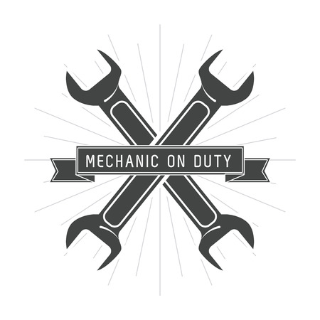 auto service: wrench auto rapair service maintenance icon. Isolated illustration. Vector graphic Illustration