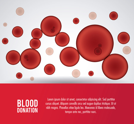 globules: globules blood donation icon. Colorfull and flat illustration. Vector graphic