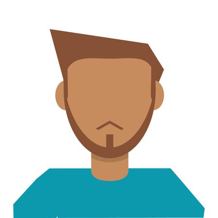 faceless: flat design faceless man icon vector illustration