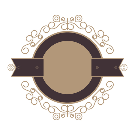 whorl: flat design decorative vintage frame icon vector illustration Illustration