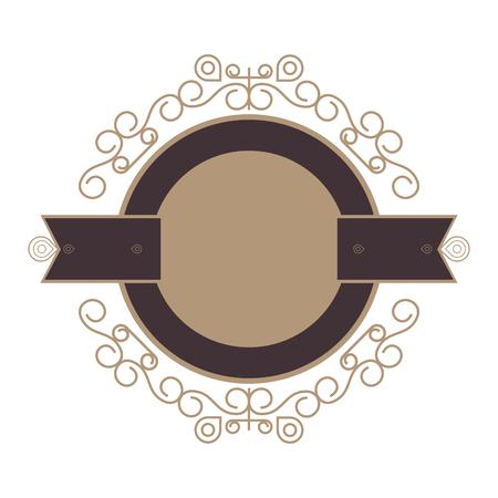 flat design decorative vintage frame icon vector illustration Illustration