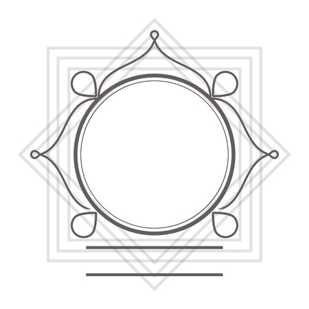 lacework: flat design decorative vintage frame icon vector illustration Illustration