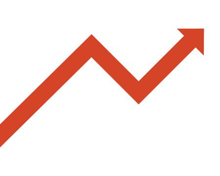 flat design growing arrow icon vector illustration