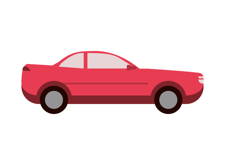 sideview: flat design car sideview icon vector illustration